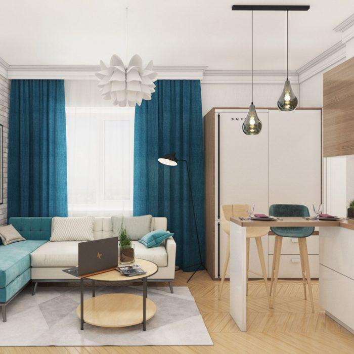 Малогабаритная однокомнатная квартира